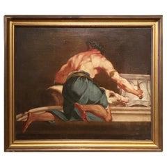 18th Century Italian Oil on Canvas Painting Depicting a Mythological Scene