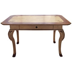 18th Century Italian Painted Louis XV Bureau Plat or Writing Desk in Walnut