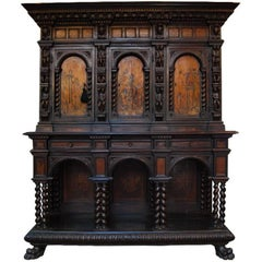 18th Century Italian Parquetry Inlaid Cabinet