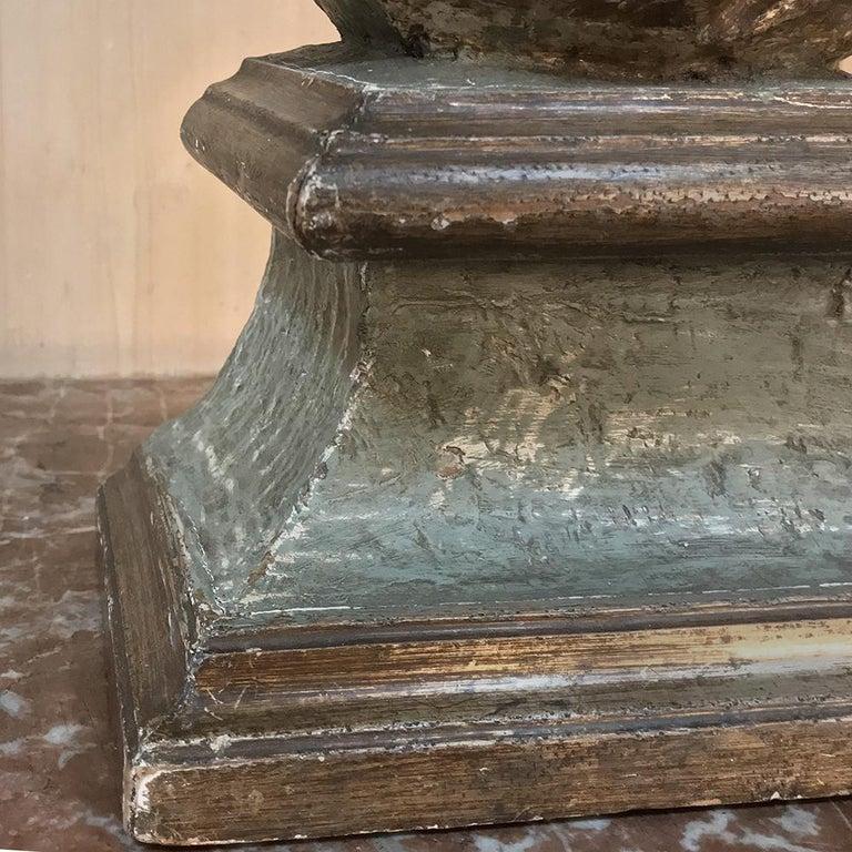 18th Century Italian Polychrome Bust of Saint For Sale 4