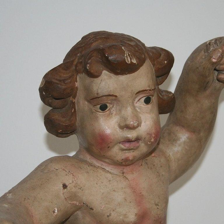 18th Century Italian Primitive Baroque Angel For Sale 4