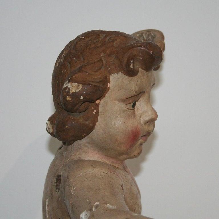 18th Century Italian Primitive Baroque Angel For Sale 5
