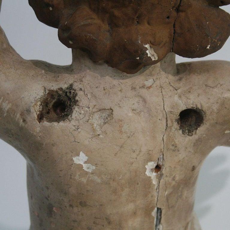 18th Century Italian Primitive Baroque Angel For Sale 10