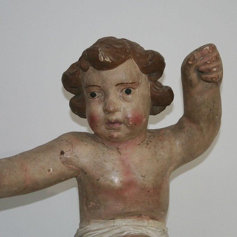 18th Century Italian Primitive Baroque Angel For Sale 1