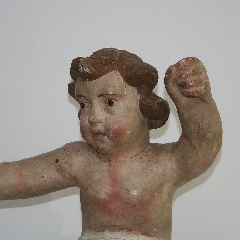 18th Century Italian Primitive Baroque Angel For Sale 2