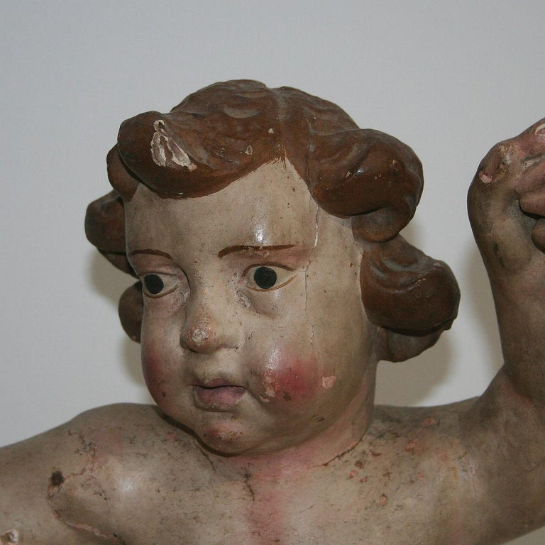 18th Century Italian Primitive Baroque Angel For Sale 3