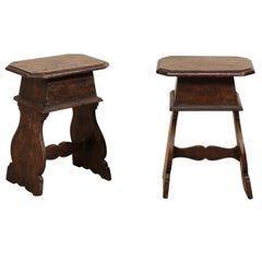 18th Century Italian Renaissance Style Small Wood Tables or Stools