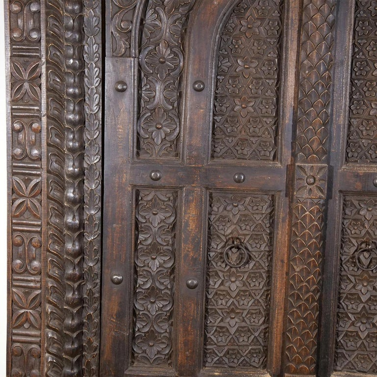18th Century Italian Rococo Carved Frieze Wall Panel, Antique Oakwood Door For Sale 2