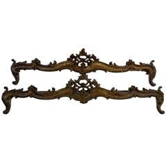 Rococo style pair of Mantovane