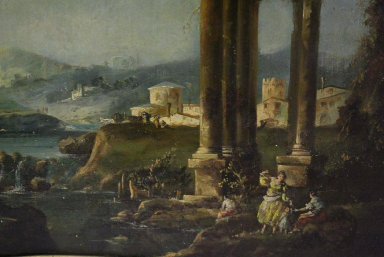 18th Century Italian School Oil on Canvas Painting For Sale 10