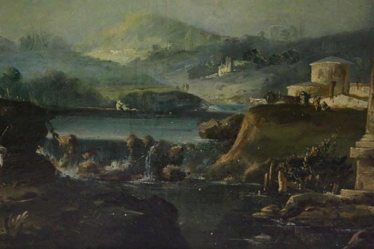 18th Century Italian School Oil on Canvas Painting For Sale 11