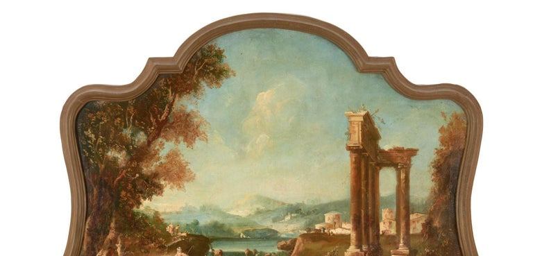 Hand-Painted 18th Century Italian School Oil on Canvas Painting For Sale