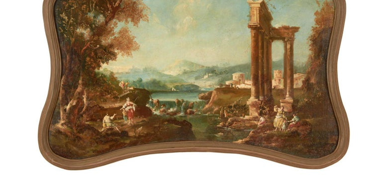 18th Century Italian School Oil on Canvas Painting In Good Condition For Sale In Cypress, CA
