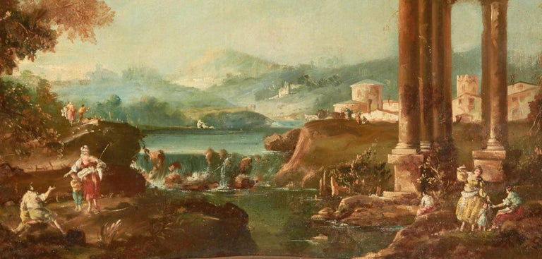 18th Century and Earlier 18th Century Italian School Oil on Canvas Painting For Sale