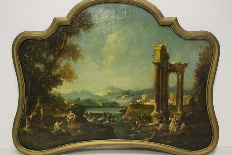 18th Century Italian School Oil on Canvas Painting For Sale 3