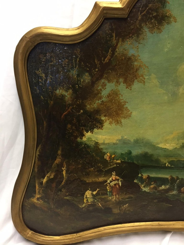 18th Century Italian School Oil on Canvas Painting For Sale 4