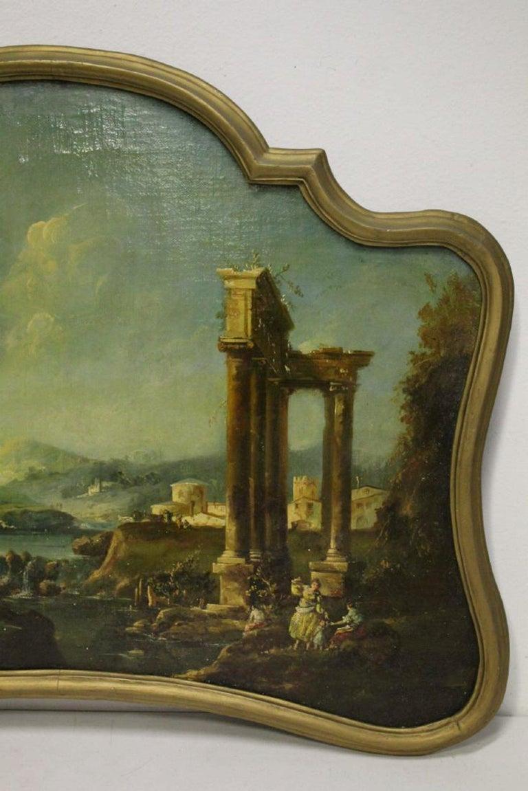 18th Century Italian School Oil on Canvas Painting For Sale 5