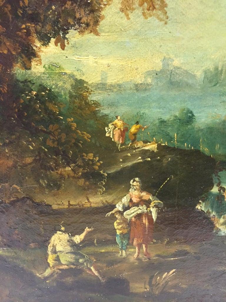 18th Century Italian School Oil on Canvas Painting For Sale 7