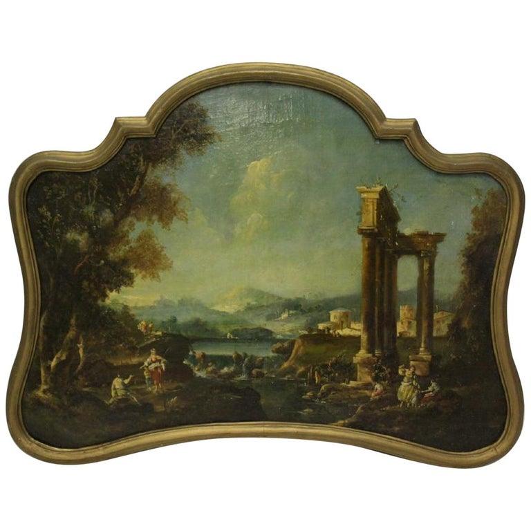 18th Century Italian School Oil on Canvas Painting For Sale