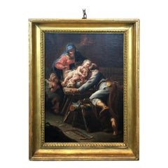 18th Century Italian School Painting Holy Family