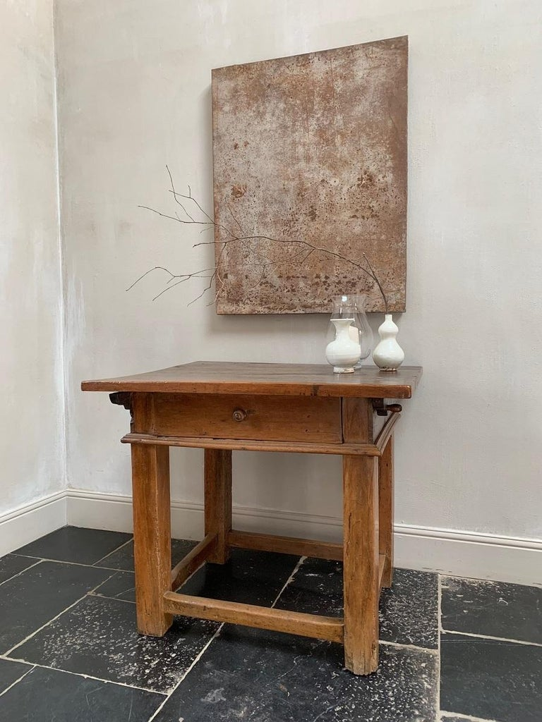 Walnut 18th Century Italian Side Table Rent Table For Sale