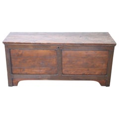 18th Century Italian Solid Cherry and Oakwood Blanket Chest
