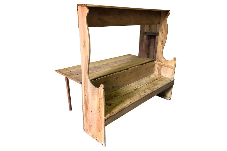 18th Century Italian Table, Bench For Sale 8