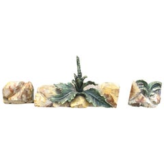 18th Century Italian Three-Piece Carved and Painted Wooden Fragments