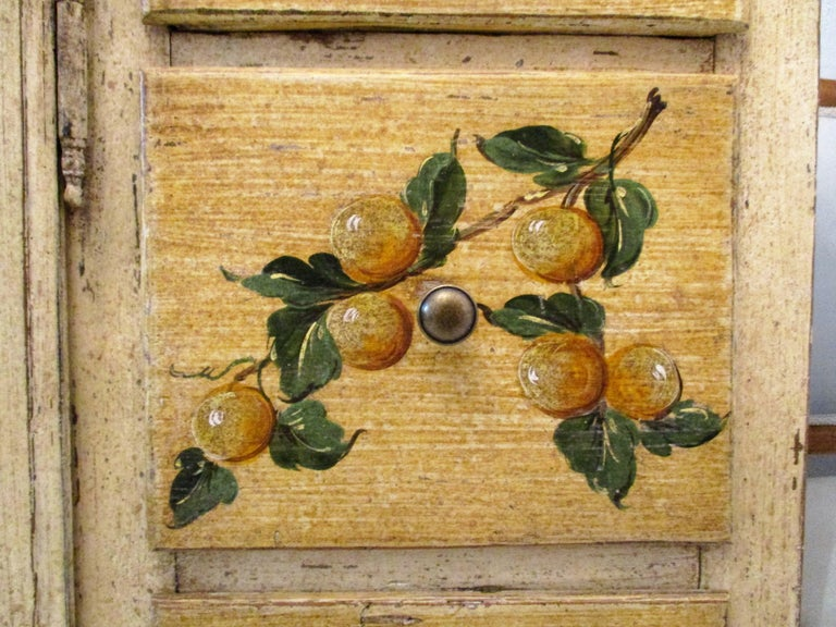 18th Century Italian Trompe L'oeil Painted Cupboard For Sale 2