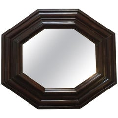 18th Century Italian Walnut Octogonal Mirror