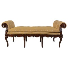 18th Century, Italian Walnut Wood Bench