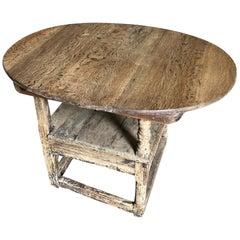 18th Century Italian Wine Tasting Table, Chair