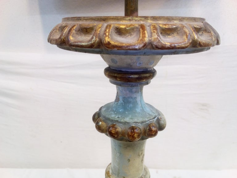 18th Century Italian Wood Candelabra of Order of the Sacred Heart For Sale 12