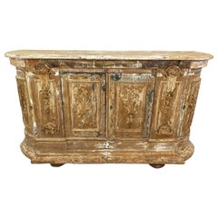 18th Century Italian Wooden Painted Credenza