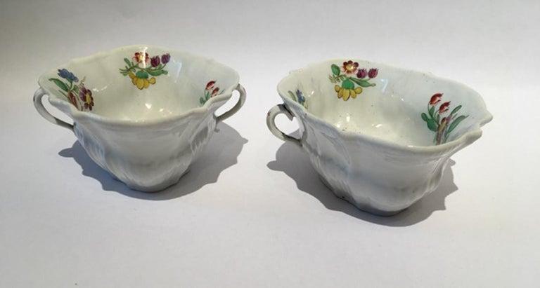 18th Century Italy Richiard Ginori Doccia Pair of Porcelain Sauce Bowls For Sale 2