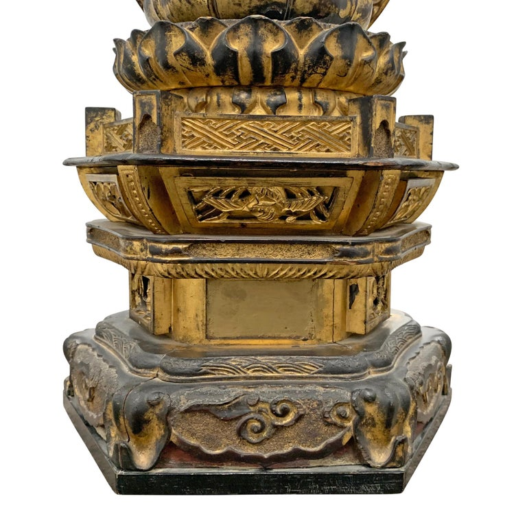 Edo Period Japanese Bodhisattva Shrine For Sale 3