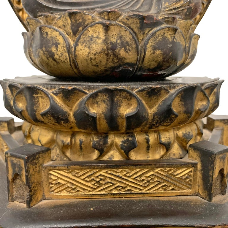 Edo Period Japanese Bodhisattva Shrine For Sale 4