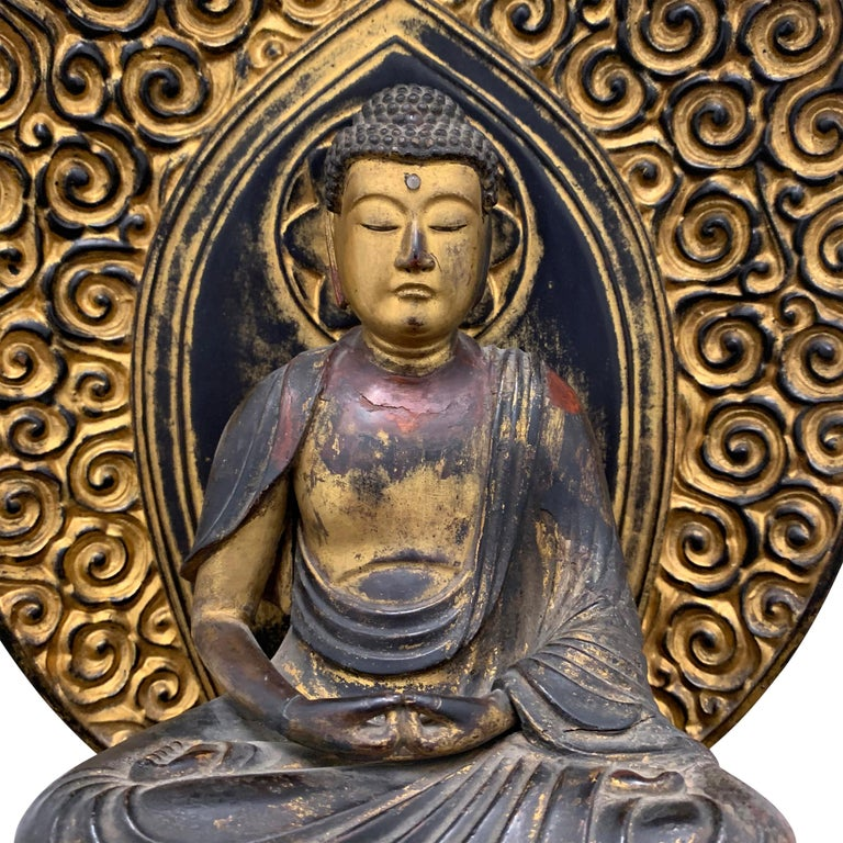 Edo Period Japanese Bodhisattva Shrine In Good Condition For Sale In Chicago, IL