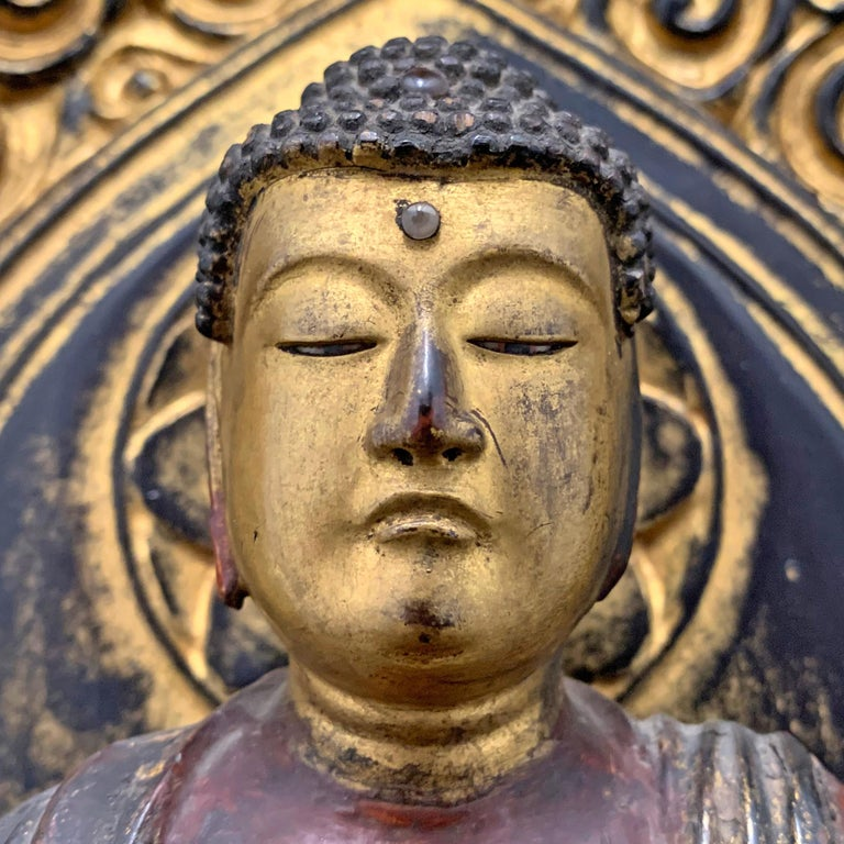 Early 19th Century Edo Period Japanese Bodhisattva Shrine For Sale