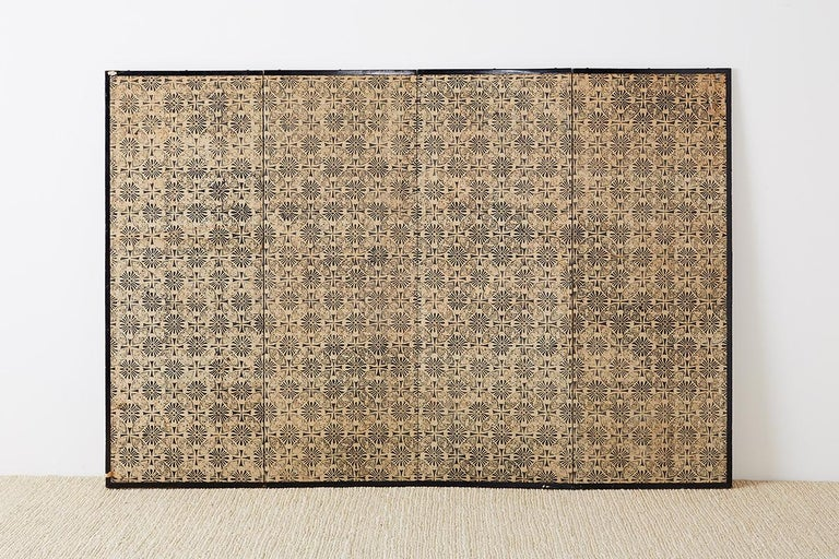18th Century Japanese Peacock Screen Kano School For Sale 10