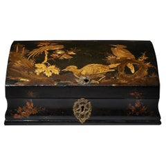 18th Century Japanned Chinoiserie Dome-Topped Box, Circa 1715-1725