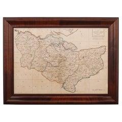 18th Century John Cary Map of Kent, c.1769