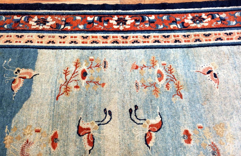 18th Century Kansu Carpet from China 10