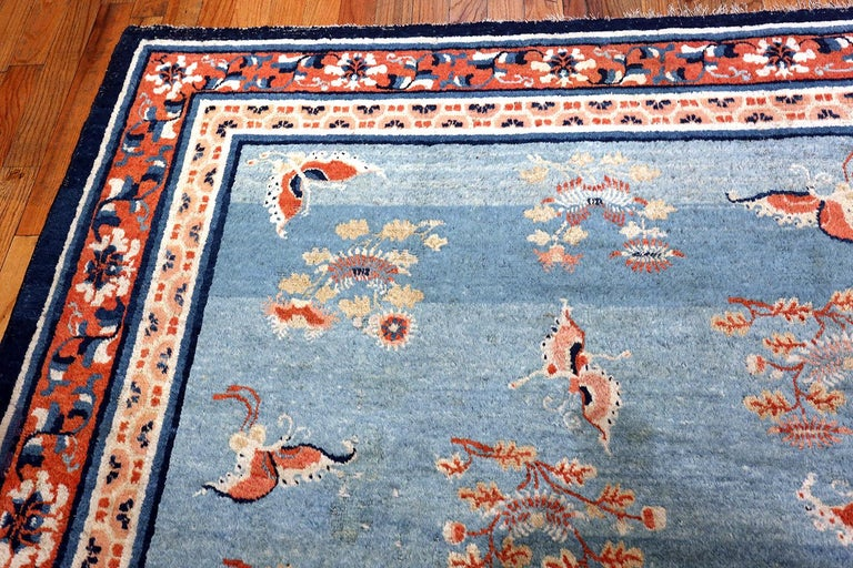 18th Century Kansu Carpet from China 11