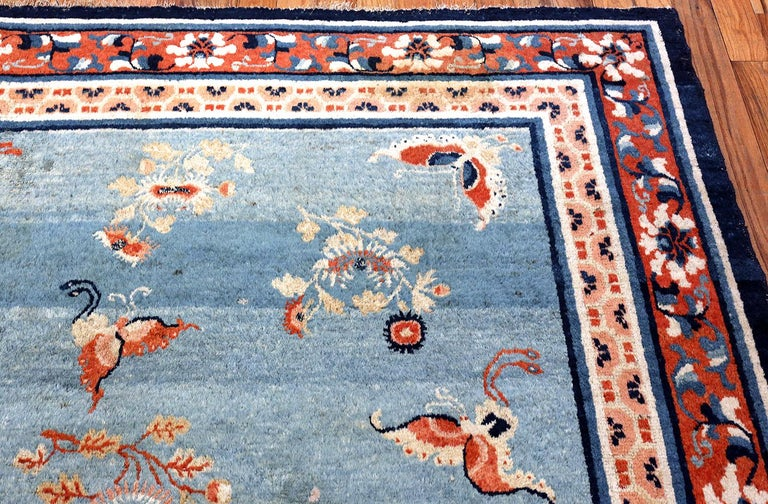 18th Century Kansu Carpet from China 12