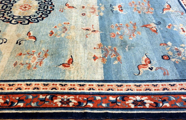 18th Century Kansu Carpet from China 4