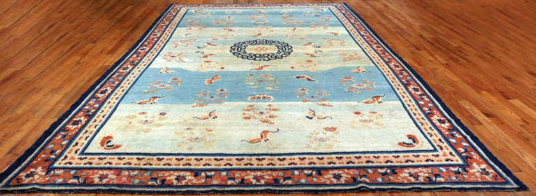 18th Century Kansu Carpet from China 5