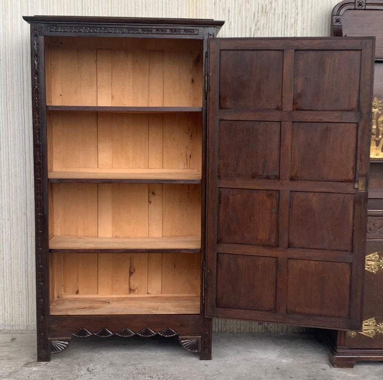 18th Century Kitchen Cabinet with One Door, Oak, Castalan Influence, Spain For Sale 1