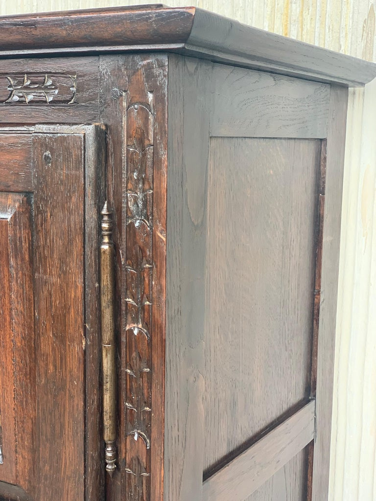 18th Century Kitchen Cabinet with One Door, Oak, Castalan Influence, Spain For Sale 2