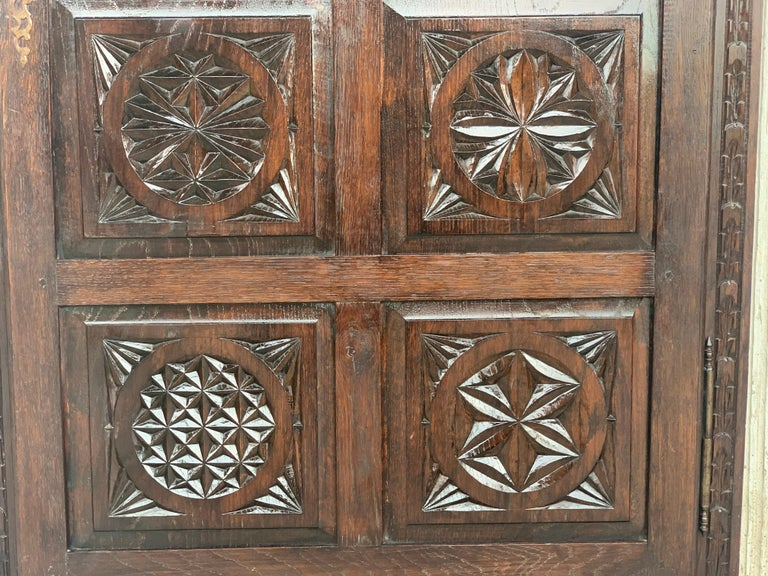 18th Century Kitchen Cabinet with One Door, Oak, Castalan Influence, Spain For Sale 3